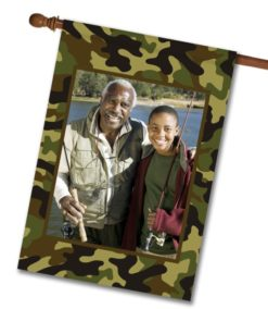 "Camo  - Photo House Flag 28""x40"""