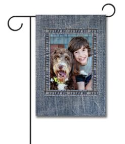 Denim II  - Photo Garden Flag - 12.5'' x 18''