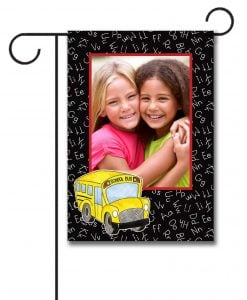 Off To School- Photo Garden Flag - 12.5'' x 18''