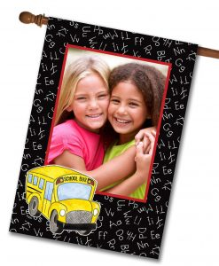 "Off To School  - Photo House Flag 28""x40"""