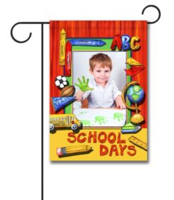 School Days- Photo Garden Flag - 12.5'' x 18''