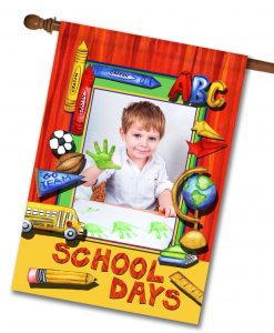 "School Days  - Photo House Flag 28""x40"""