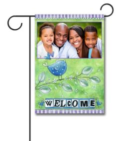 Welcome Bird- Photo Garden Flag - 12.5'' x 18''