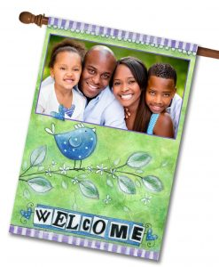 "Welcome Bird - Photo House Flag 28""x40"""