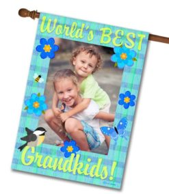 "World's Best Grandkids  - Photo House Flag 28""x40"""