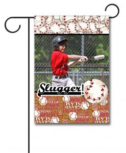 Baseball Slugger  - Photo Garden Flag - 12.5'' x 18''