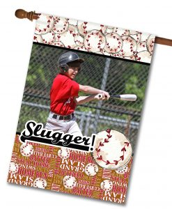 "Baseball Slugger - Photo House Flag 28""x40"""