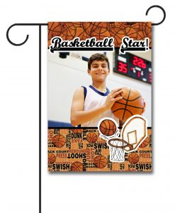 Basketball Star  - Photo Garden Flag - 12.5'' x 18''