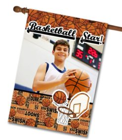"Basketball Star - Photo House Flag 28""x40"""