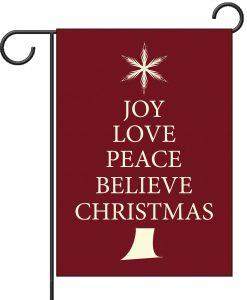 Believe Christmas Tree - Garden Flag - 12.5'' x 18''