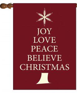 Believe Christmas Tree- House Flag - 28'' x 40''