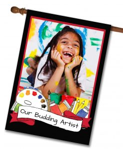 "Budding Artist - Photo House Flag 28""x40"""