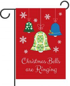 Christmas Bells are Ringing - Garden Flag - 12.5'' x 18''
