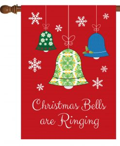 Christmas Bells are Ringing- House Flag - 28'' x 40''