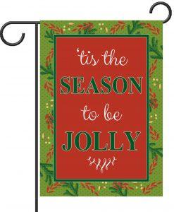 Christmas Greenery tis the Season - Garden Flag - 12.5'' x 18''