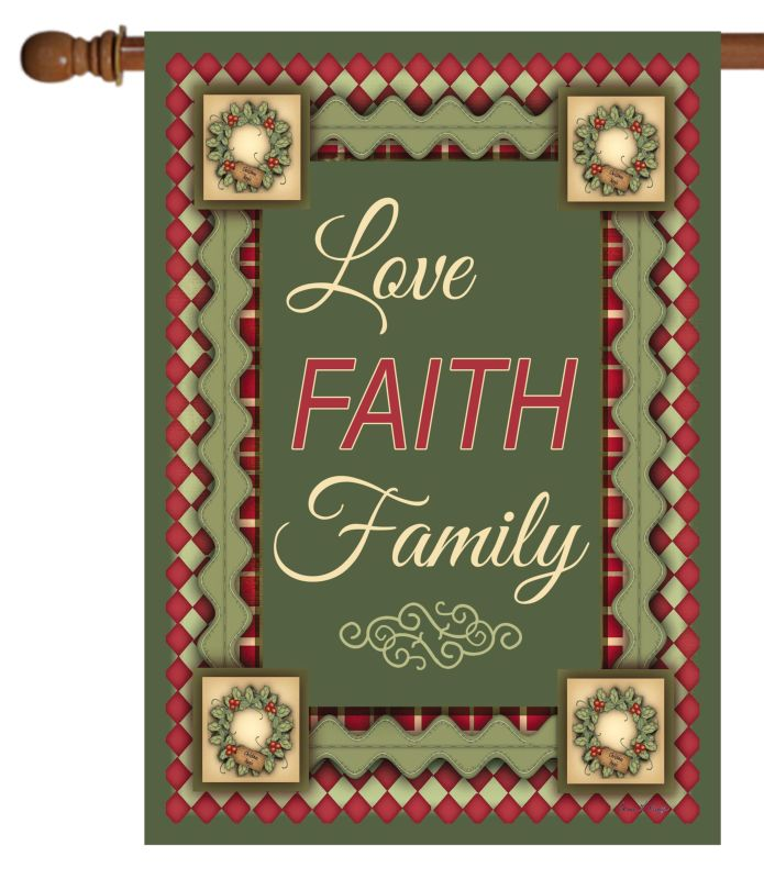 christmas love faith  u0026 family - house flag - 28 u0026 39  u0026 39  x 40 u0026 39  u0026 39