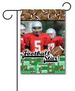 Football Star  - Photo Garden Flag - 12.5'' x 18''