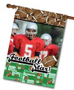 "Football Star - Photo House Flag 28""x40"""