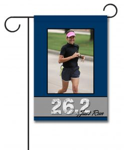 Just Run 26.2  - Photo Garden Flag - 12.5'' x 18''