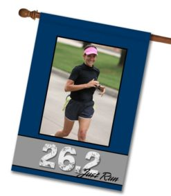 "Just Run 26.2 - Photo House Flag 28""x40"""