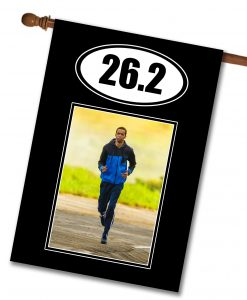 "Marathon 26.2- Photo House Flag 28""x40"""