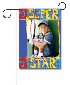 Sports Super Star  - Photo Garden Flag - 12.5'' x 18''