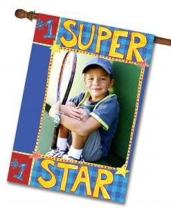 "Sports Super Star - Photo House Flag 28""x40"""
