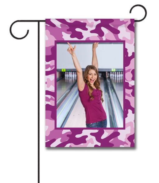 Purple Camo   - Photo Garden Flag - 12.5'' x 18''