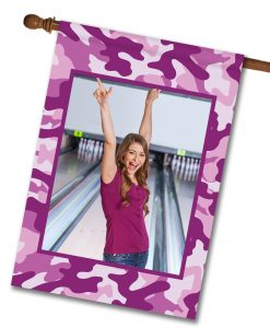 "Purple Camo - Photo House Flag 28""x40"""