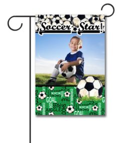 Soccer Star  - Photo Garden Flag - 12.5'' x 18''