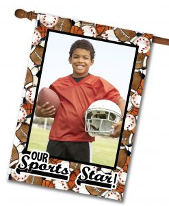 "Sports Star - Photo House Flag 28""x40"""