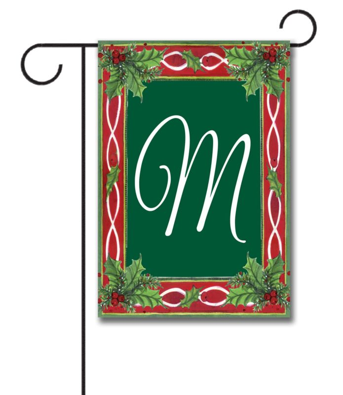 Holly Monogram Garden Flag 12 5 39 39 X 18 39 39 Custom
