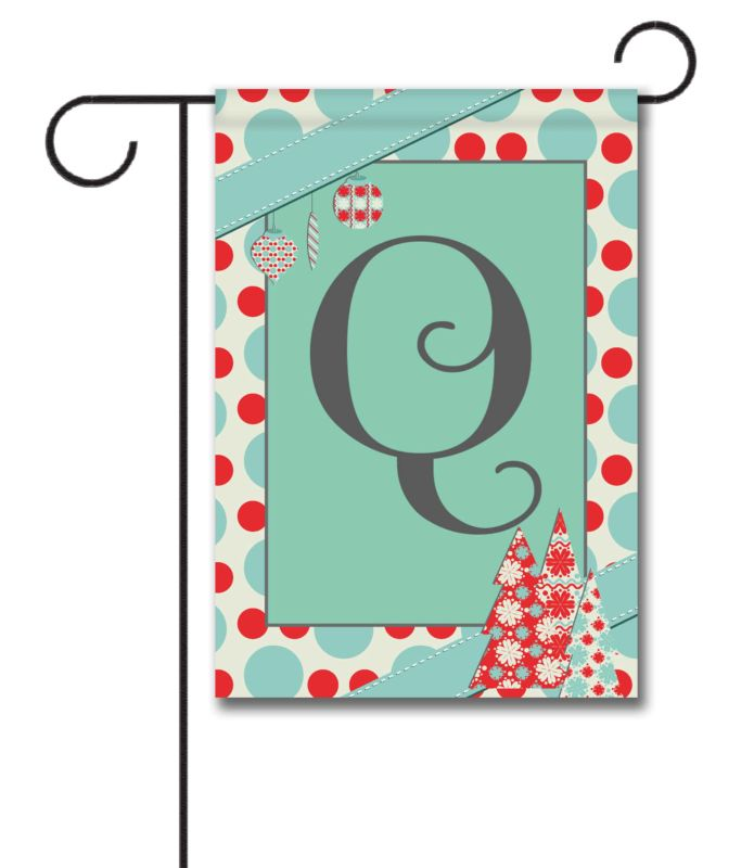 Superior Christmas Outdoor Flags #1: Pastel-Christmas-Monogram-Garden-Flag.jpg
