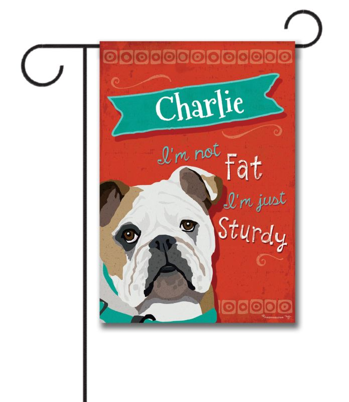 Personalized Bulldog Garden Flag 12 5 39 39 X 18 39 39 Custom