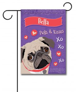 personalized_pug_garden-flag