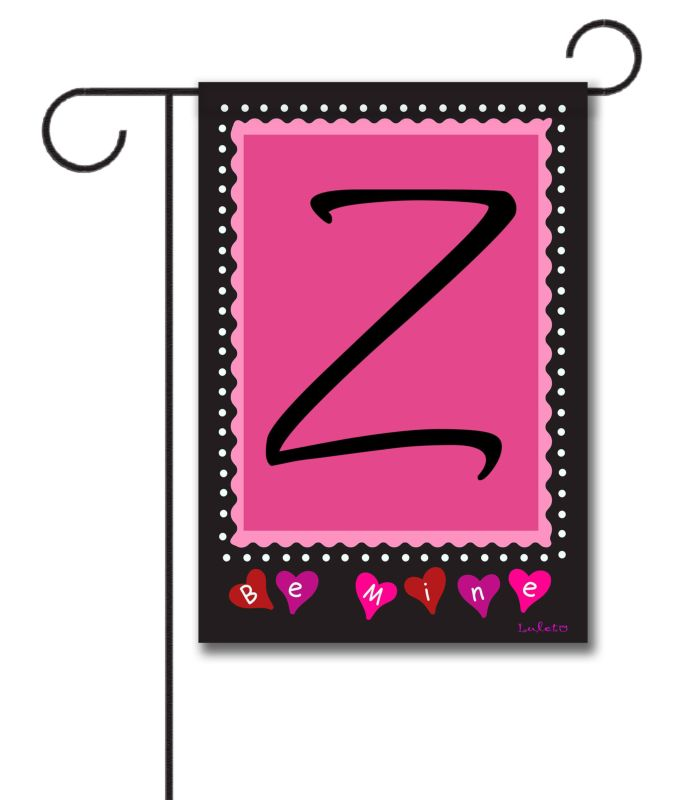 Be Mine Monogram Garden Flag 12 5 39 39 X 18 39 39 Custom