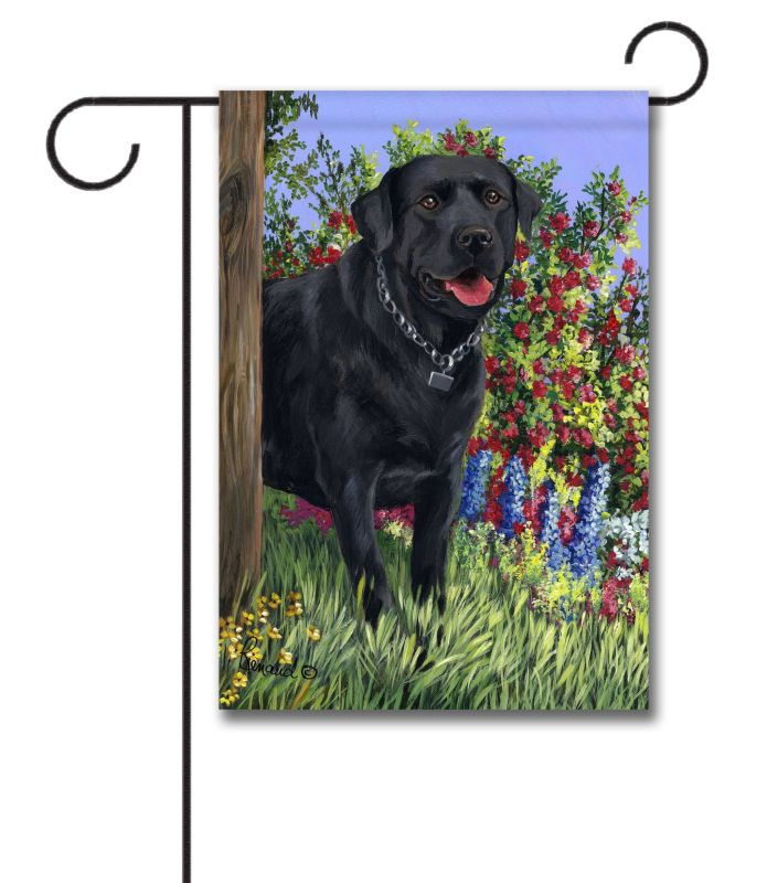 black labrador retriever my special place - garden flag - 12 5 u0026 39  u0026 39  x 18 u0026 39  u0026 39