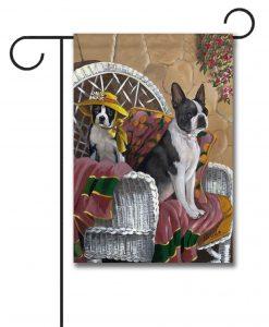 Boston Terrier Patio Gems U2013 Garden Flag U2013 12.5u201d X 18u201d