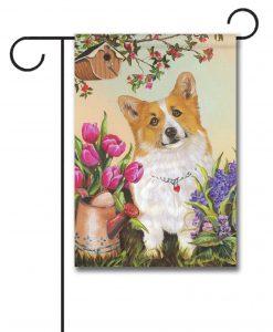 Corgi Spring Flowers – GARDEN