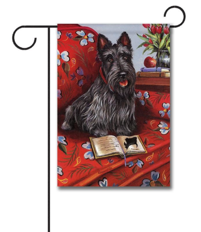 scottish terrier lil einstein - garden flag - 12 5 u0026 39  u0026 39  x 18 u0026 39  u0026 39