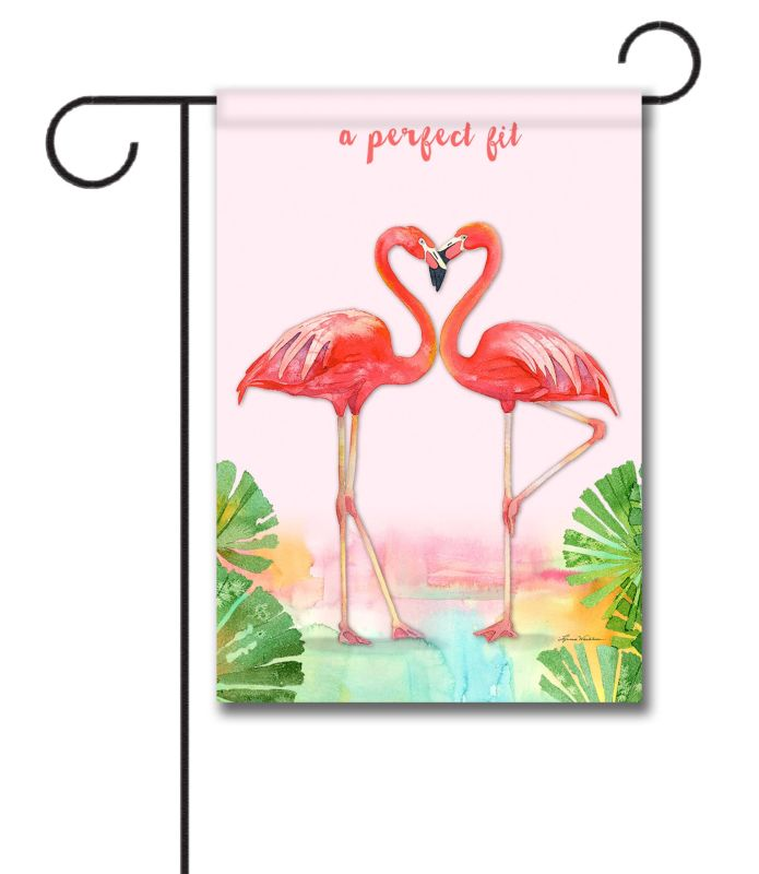 phuk fullxfull personalized garden flags listing welcome flag zoom il gift flamingo