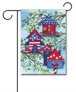 american birdhouses garden flag