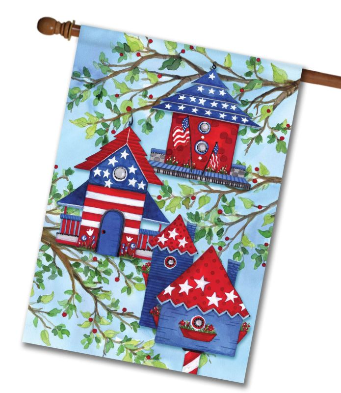 American Birdhouses House Flag 28 X 40 Custom