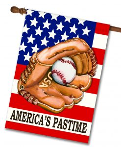 America's Pastime- House Flag - 28'' x 40''