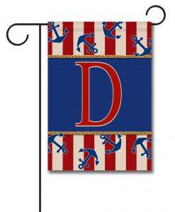 Anchors Aweigh!  - Monogram Garden Flag - 12.5'' x 18''