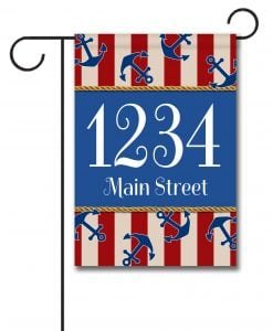 Anchors Aweigh!  - Address Garden Flag - 12.5'' x 18''