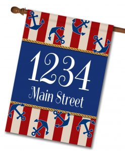 Anchors Aweigh!  - Address House Flag - 28'' x 40''