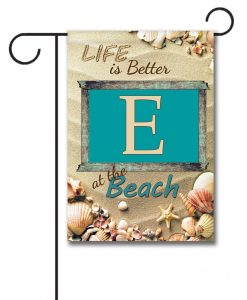 Better at the Beach - Monogram Garden Flag - 12.5'' x 18''