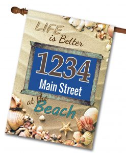 Better at the Beach - Address Garden Flag - 12.5'' x 18''