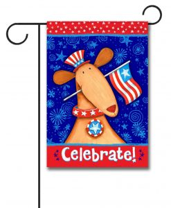 Celebrate! Patriotic Dog- Garden Flag - 12.5'' x 18''
